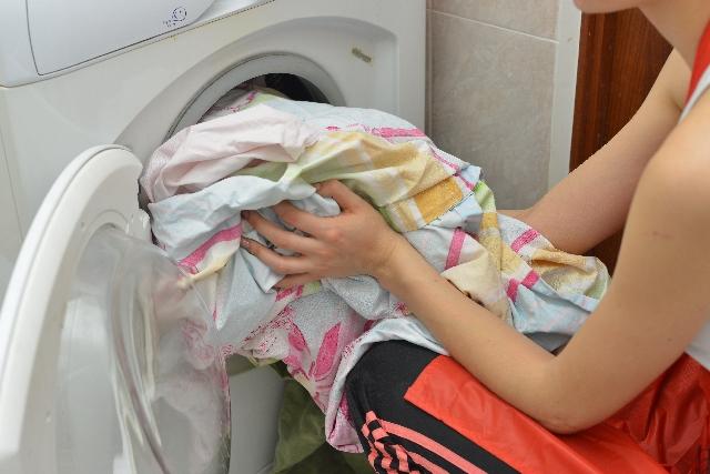 働くママ 洗濯